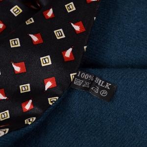 Image 4 - [Bysifa] homem negócios preto lenço de seda engrossar outono inverno masculino 100% natural seda longo cachecóis cravats pescoço cachecol gravata 165*24cm