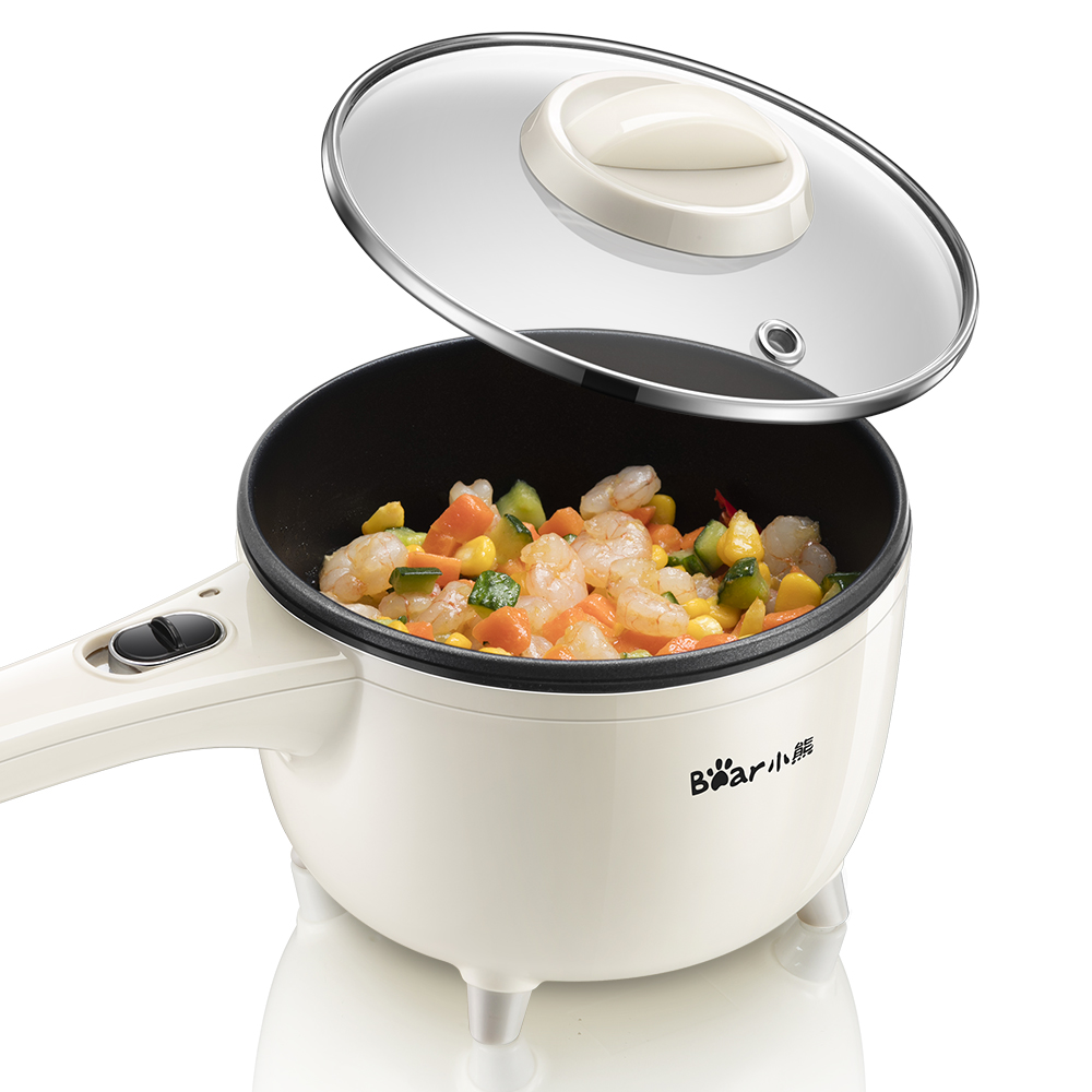 Electric Cooker Multifunction Dorm Room Cooking Pot Steamer 1-2 People 2L Cooking Fried Frying Stainless Steel Nonstick 1 5l electric cooker multifunction cooking stew pot mini hot pot cooking rice soup cooking noodles
