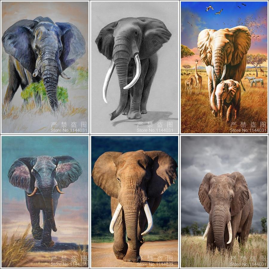 5d diy diamante pintura elefantes diy diamond artesanía costura - Artes, artesanía y costura - foto 1