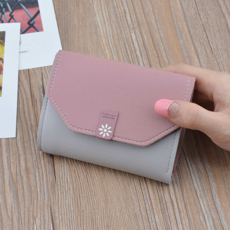 Best Selling Small Wallet Womens Wallets And Purses High Quality Money Bag Cute Gift For Students Three Fold Purse Carteira.
