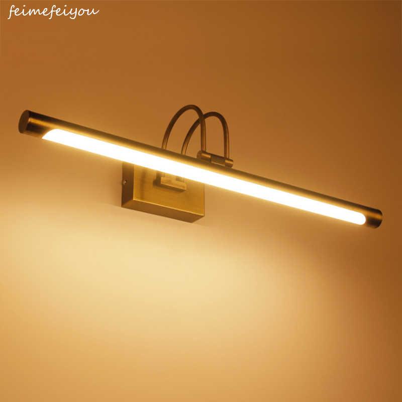 LYFS 42 см Бронзовый Ванная комната светодиодный свет зеркала настенные светодиодный Ванная комната Vanity макияж бра зеркало спереди лампы 85-220 V