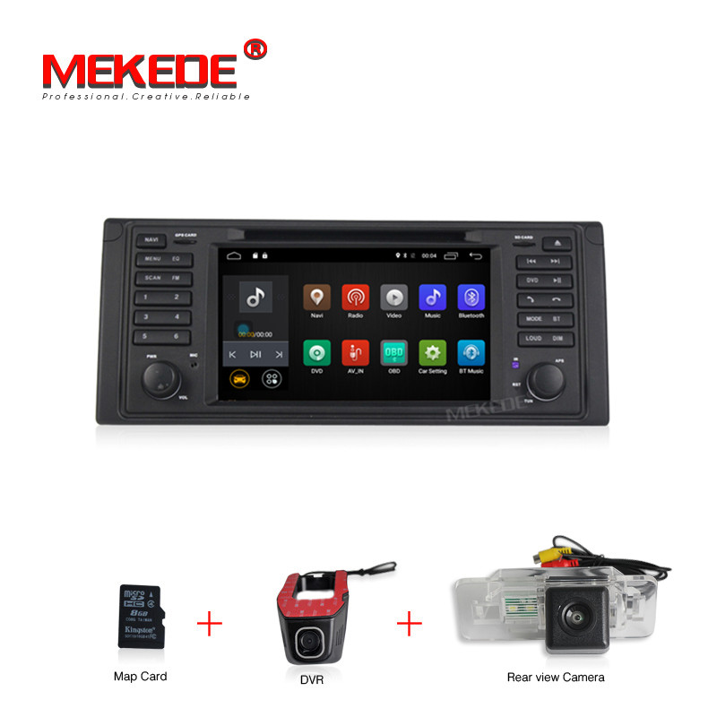 free shipping Android 7.1 2G RAM 16G ROM GPS Navi 7 Car DVD Player for BMW E39 5 Series/M5 1997-2003 with BT/RDS/Radio/4G/WIFI