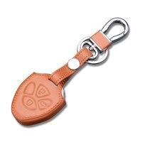 Black/Brown Leather Key Từ Xa Chủ Chain Trường Hợp Che Fob phù hợp cho 3 Nút Camry RAV4 Corolla Avalon Matrix Venza Yaris