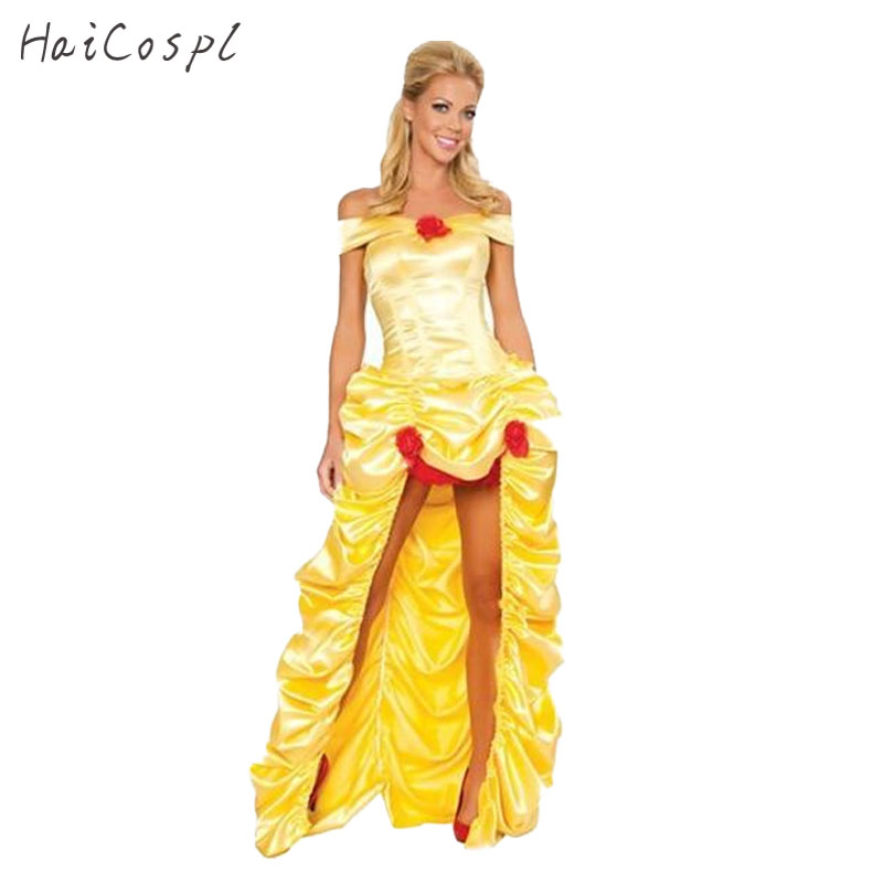 Halloween Costumes for Women Adult Cinderella Dress Princess Belle Costume Female Snow White Costume Fairy Tale One-Piece Dress