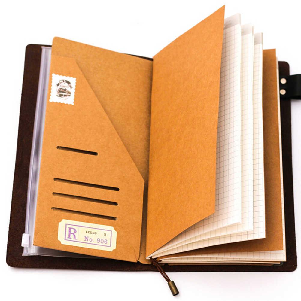 75b5b53bf508 Handmade Kraft Paper File Holder For Travel Notebook Accessory Vintage  Retro Card Pocket Storage Standard/Pocket/Passport