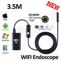 8mm lens wifi endoscópio iphone camera hd720p 3.5 m flexível cobra usb tubo de inspeção endoscópio ios android tablet pc câmera hd