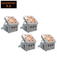 Freeshipping 4 Pack 12*18W Wedding Stage Show Event Wireless Battery Freedom Led Par Cans White Case Remote Infrared APP Control
