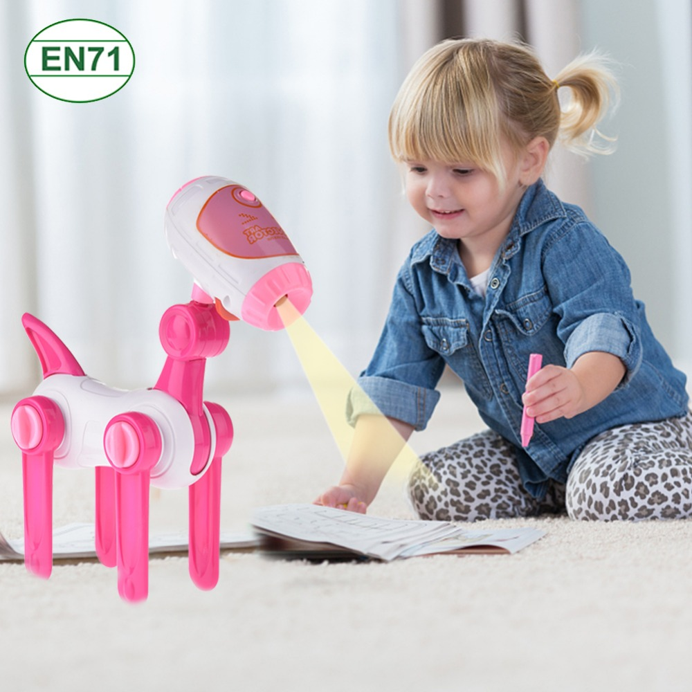 Early Learning Projection Puppy Painting Learning Machine (With Button Battery)