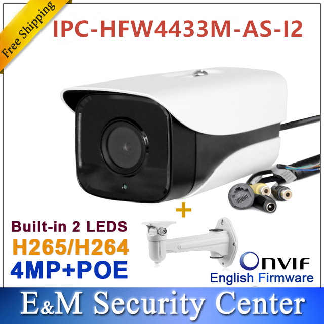 Origianl dahua IPC HFW4433M AS I2 replace IPC HFW4431M AS I2 4MP bullet POE Audio Alarm