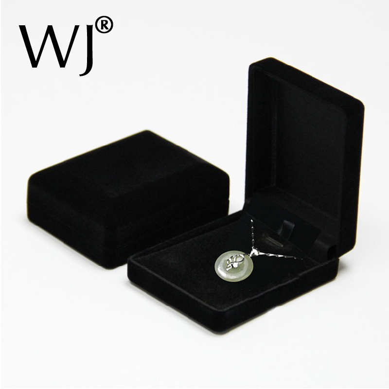 Superior Black Velvet Pearl Pendant Earrings Stands Jewelry Boxes Necklace Colars Gift Box Packaging and Organizer 24pcs/lot