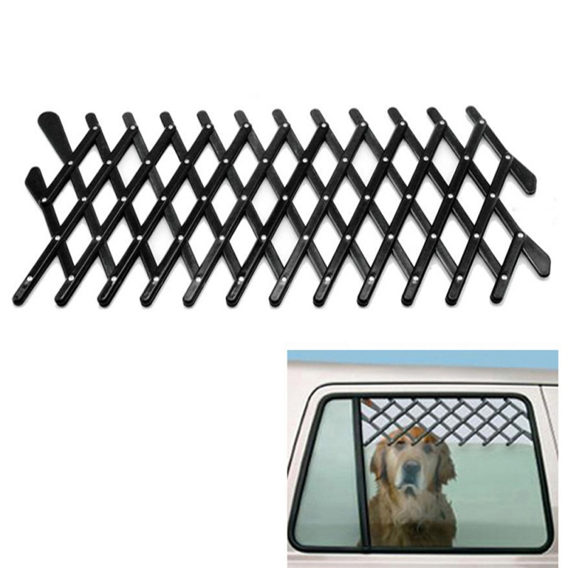 US $8 28 |Expandable Car Window Gate Magic Gate Dog Pet Fences Vent Window  Ventilation Safe Guard Grill For Pet Travel Pet Accessories-in Dog Doors &
