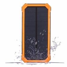 PowerGreen Portable Mini Solar Panel 15000mAh Solar Power Bank Charger External Battery for Phone