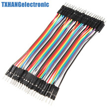 Durable 40pcs Dupont 10CM Male To Male Jumper Wire Ribbon Cable Breadboard
