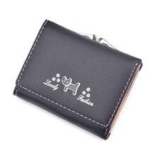 Women Wallet Leather Clutch Small Cute Dog Pattern Feminima Bolsa Trifold Card Holder Coins Purse Fashion New Fresh