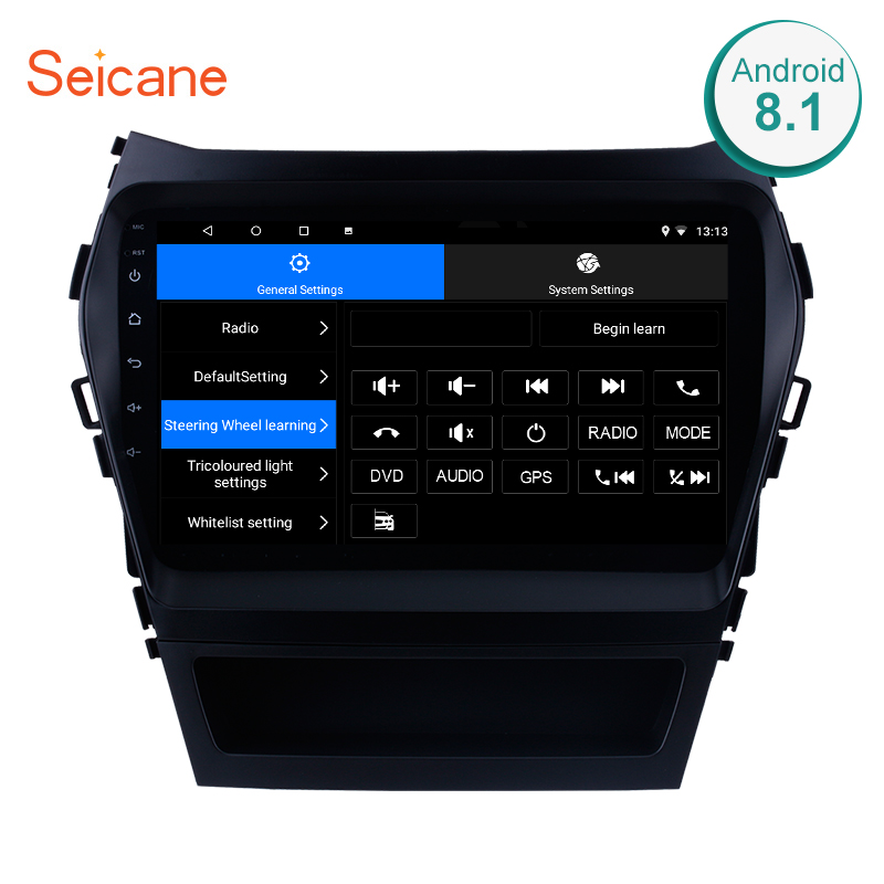 Seicane 9 Android 7.1/8.1 Quad Core Car GPS Navigation Radio Multimedia player For 2013 2014 2015-2017 Hyundai IX45 SantaFe Seicane 9 Android 7.1/8.1 Quad Core Car GPS Navigation Radio Multimedia player For 2013 2014 2015-2017 Hyundai IX45 SantaFe