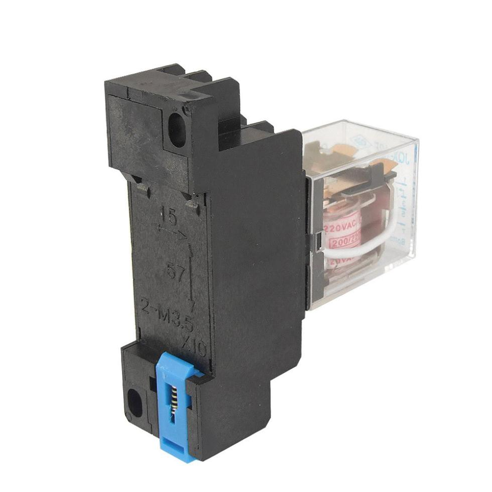 hight resolution of 2015 hot jqx 13f 220v ac coil dpdt power relay 8 pin ptf08a socket