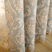 European Jacquard Royal Luxury Curtains for Bedroom Tulle Curtains for Living Room Elegant Drapes Thick Curtains Tende wp245&2