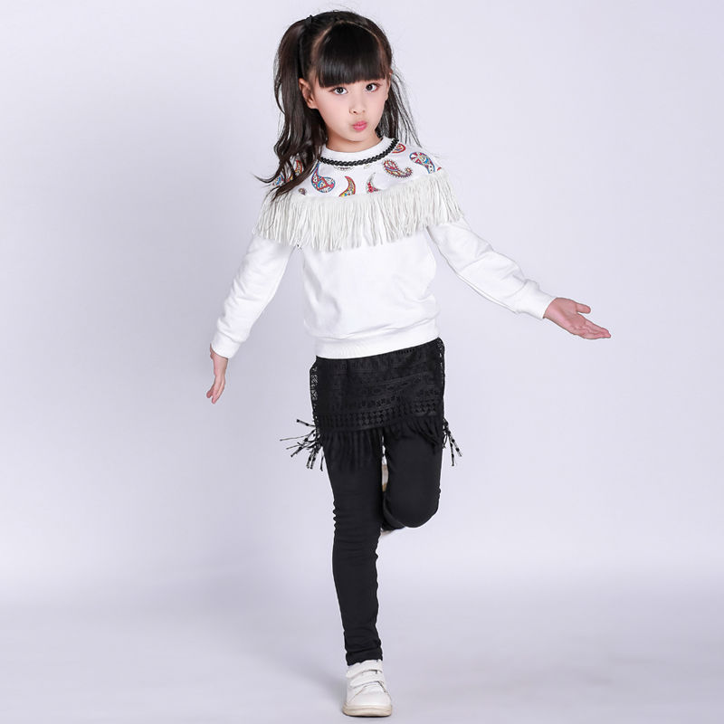 Girls clothes 2017 autumn spring new fashion brand children's clothing for 2 3 4 5 6 7 8 9 10 years old kids tops tee and pants bevza повседневные шорты