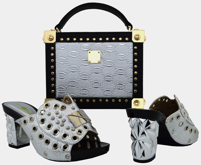 ФОТО New fashion african shoe and bag set for party italian shoe with matching bag new design ladies matching shoe and bag WVL1-1