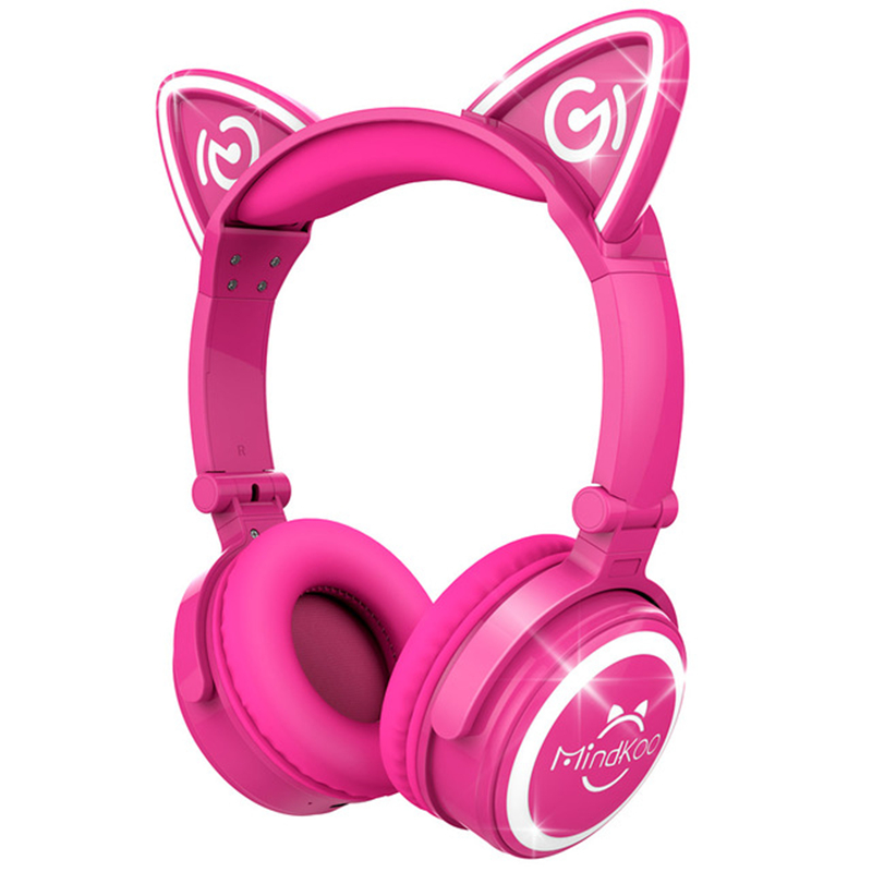 Fashion Stylish Cat Ear Headphones for Computer Games Headset Earphone music with LED light For PC Laptop Computer Mobile Phone universal headphones 3 5mm earphone earhook with clear voice for mp3 player computer apple iphone 6 6s 5 5s mobile phone headset