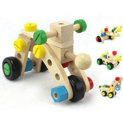 MamimamiHome Baby Building Blocks Toys Multi-function Wooden Disassembly Screw Car Children Classic Educational Toys baby building blocks toys children s digital wooden train drag splicing toy car children early education toys building block