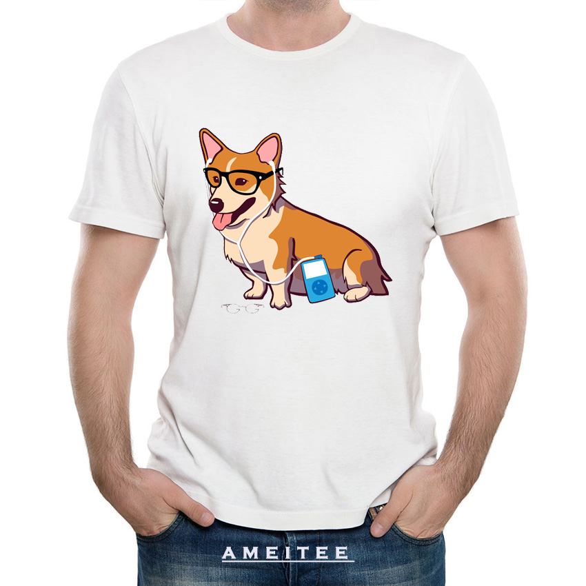 Tops & Tees Unicorgi 2018 Summer Fall Mens T Shirt Man Black Tops Hip Hop Unicorn Cartoon T-shirt Dog Pet Lover Cuteness Corgi Tshirt