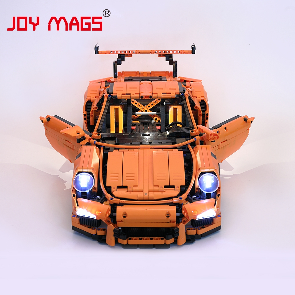 JOY MAGS Led Light Kit For Technic Porsche 911 GT3 RS Building Blocks Light Set Compatible With 42056/20001/3368/3368B/3368C playmobil лицензионные автомобили porsche 911 targa 4s 5991