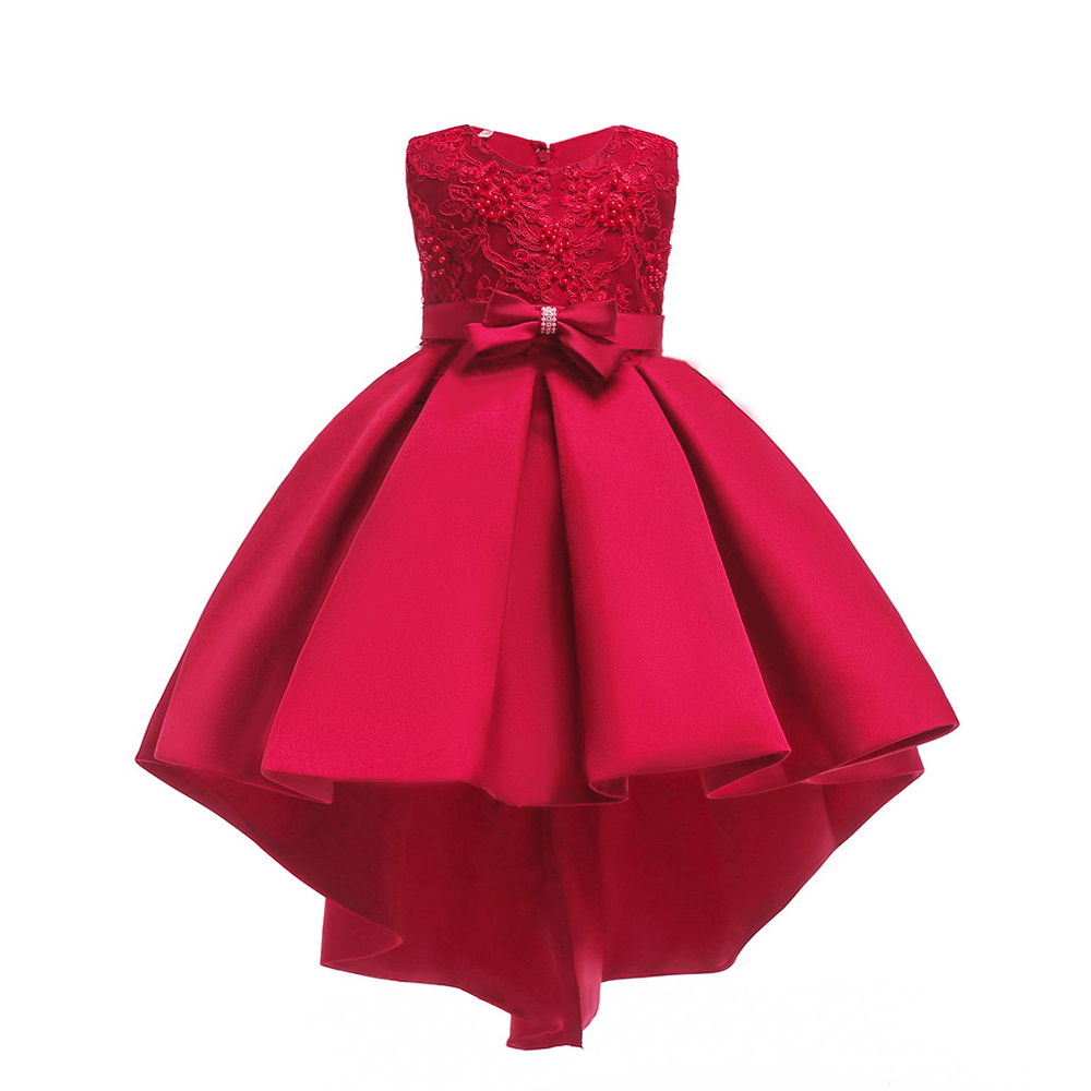 Free Shipping Hot Selling Wine Child Princess Dress 2019 New Design Satin Red Dresses For Girl Party Kids Evening Gowns with BowFree Shipping Hot Selling Wine Child Princess Dress 2019 New Design Satin Red Dresses For Girl Party Kids Evening Gowns with Bow