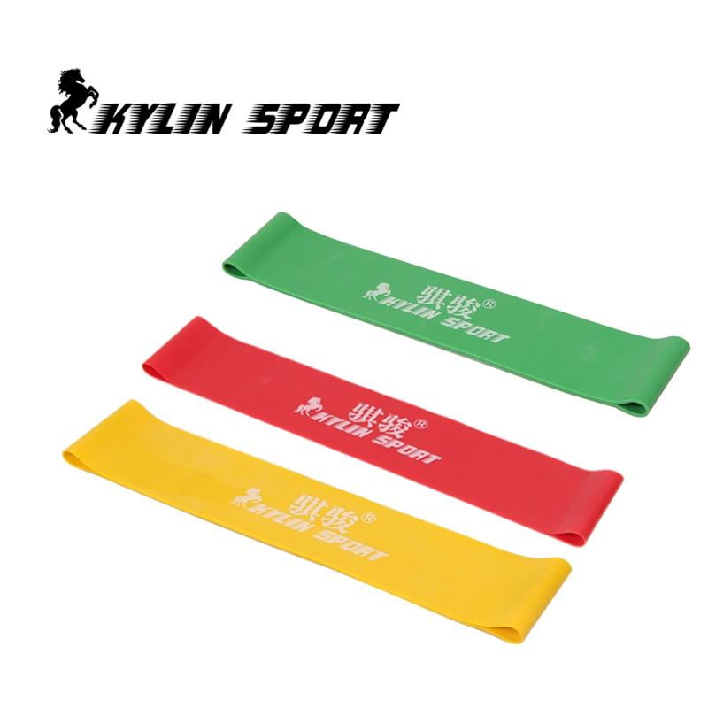 tiga warna Set 3 kombinasi band resistensi lateks latihan latihan pilates yoga band loop pergelangan kaki sabuk elastis