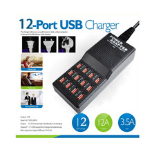 Bluehteh Multi 12 Port Fast USB charger Charging Station AC Power Adapter With Power Control for