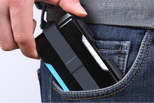 Men Metallic Business ID Credit Card Holder Cover Case RFID Blocking Super Thin Fashion Unisex Porte Carte Gifts Wallet Case