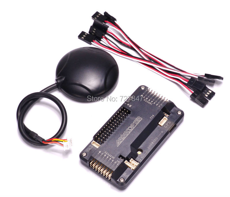 APM2.6 ArduPilot APM 2.6 Flight Controller + Ublox NEO-6M 6M GPS Module Built-in Compass 5983 GPS for APM APM2.6 Pixhawk ardupilot mega apm2 6 flight controller board internal compass with ublox neo 6m gps rc airplane part wholeslae