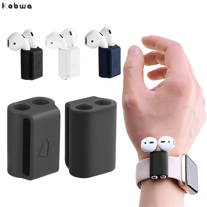 Anti-lost Silicone Holder for AirPods Case Holder Portable Anti-lost Strap Silicone Case for Apple AirPod Accessories