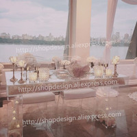 New arrival acrylic crystal wedding centerpiece event party decoration wedding table