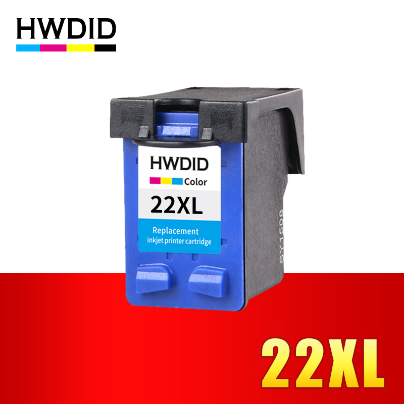 HWDID 22XL Refilled Ink Cartridge Replacement for HP 22 XL for HP Deskjet F2280 F2180 F4180 F380 F2238 D1360 D1460 D2360 F2224 befon 21 22 xl compatible ink cartridge replacement for hp 21 22 21xl 22xl deskjet f2180 f2280 f4180 f2200 f380 300 380 printer
