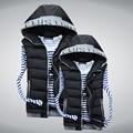 new hot 2013 winter Korean fashion casual slim lover vest thick warm hood cotton padded vest jacket for men women M-XXXL D2175