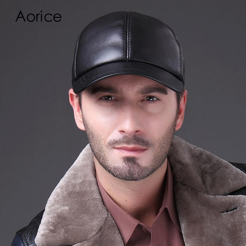 HL037 MAN Cowhide leather mens golf hat casual baseball cap Hot Sale Baseball Cap Viscose