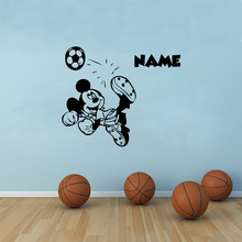 Large Size MICKEY MOUSE With Boys Personalized Name Art Vinyl Wall Decals Custom Any Names Wall Sticker For Kids Room Decor
