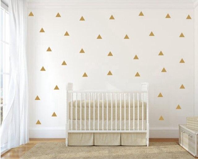Aliexpress.com : Buy Gold Triangle Wall Sticker Vinyl Decals (Set of ...