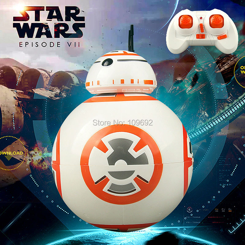 Free Shipping BB 8 Star Wars RC BB-8 Droid Robot 2.4G Remote Control BB8 Action Figure Robot Intelli