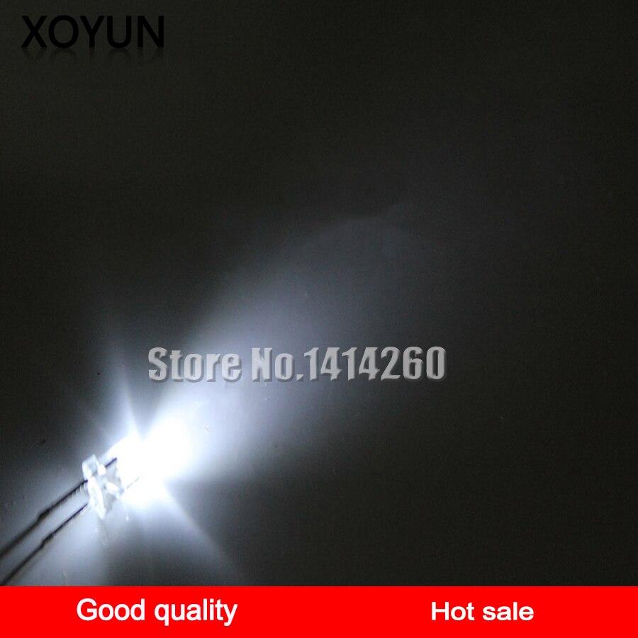 100pcs/lot 5MM White-haired White Light Emitting Tube Ultra-bright LED White Light Emitting Diode