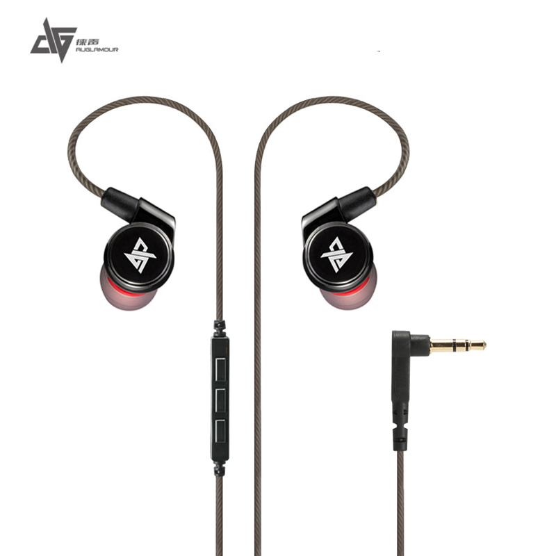AUGLAMOUR R1s in-ear Earphone HIFI Stereo Bass Sport Music Earbuds Headset Headphone with Mic for iPhone 6 6s xiaomi Samsung Mp3