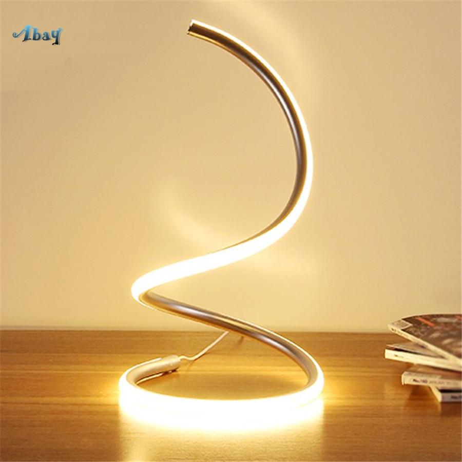 S Curve Shape Aluminum Table Lamps