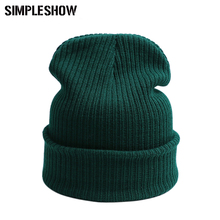 Unisex New Design Fashion Warm Hat Knit Hat Female Cap Men Winter Hat For Women Skullies Beanies Women Beanie Warm Cap