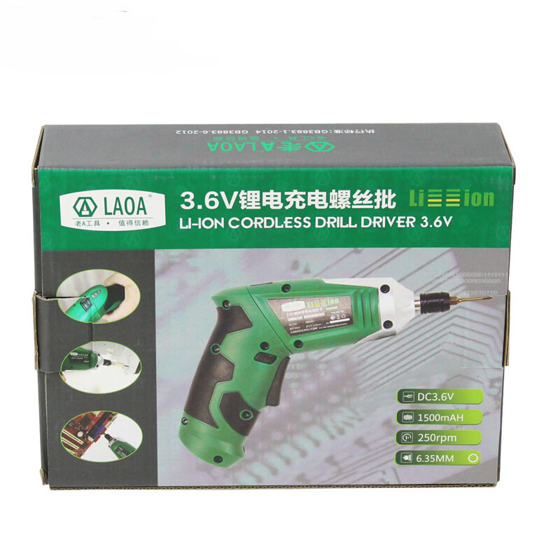 LAOA 3,6 V nešiojamas elektrinis atsuktuvas, įkraunamas - Elektriniai įrankiai - Nuotrauka 6