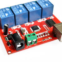 New 12V USB Relay 4 Channel Programmable Computer Control For Smart Home
