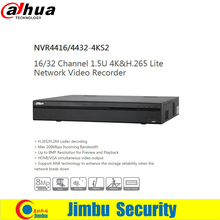 DAHUA 4K 16ch network video recorder NVR4416-4KS2 1.5U H.265 200Mbps Incoming Bandwidth Up to 8MP Resolution 4HDD