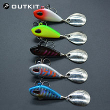OUTKIT New Metal Mini VIB With Spoon Fishing Lure 6g10g17g25g 2cm Fishing Tackle Pin Crankbait Vibration Spinner Sinking Bait(China)