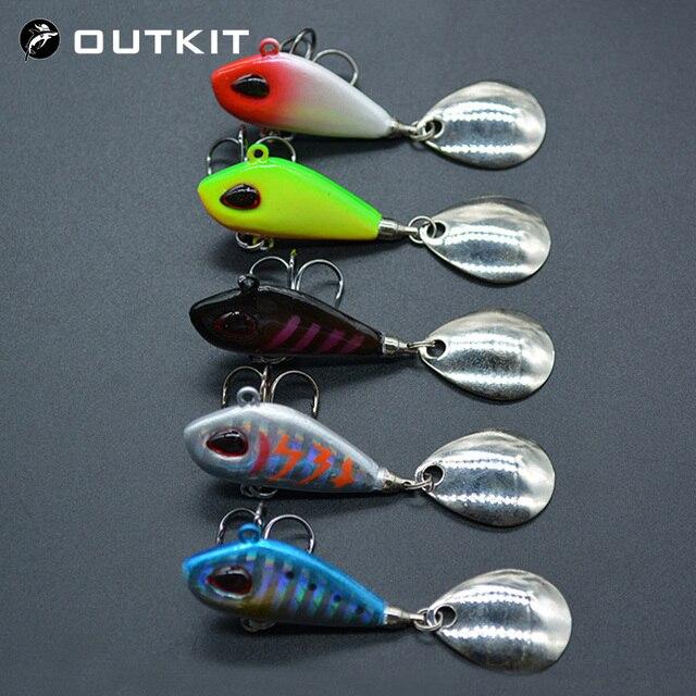 OUTKIT nuevo Metal Mini VIB con señuelo de pesca cuchara 6g10g17g25g 2 cm aparejos de pesca Pin Crankbait vibración Spinner cebo de hundimiento