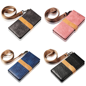 Image 5 - Luxury Crocodile Pattern Leather Case for IPhone XS Max XR XS X 8 7 6 6S Plus 8plus Card Holder Stand Flip Wallet Cover Lanyard